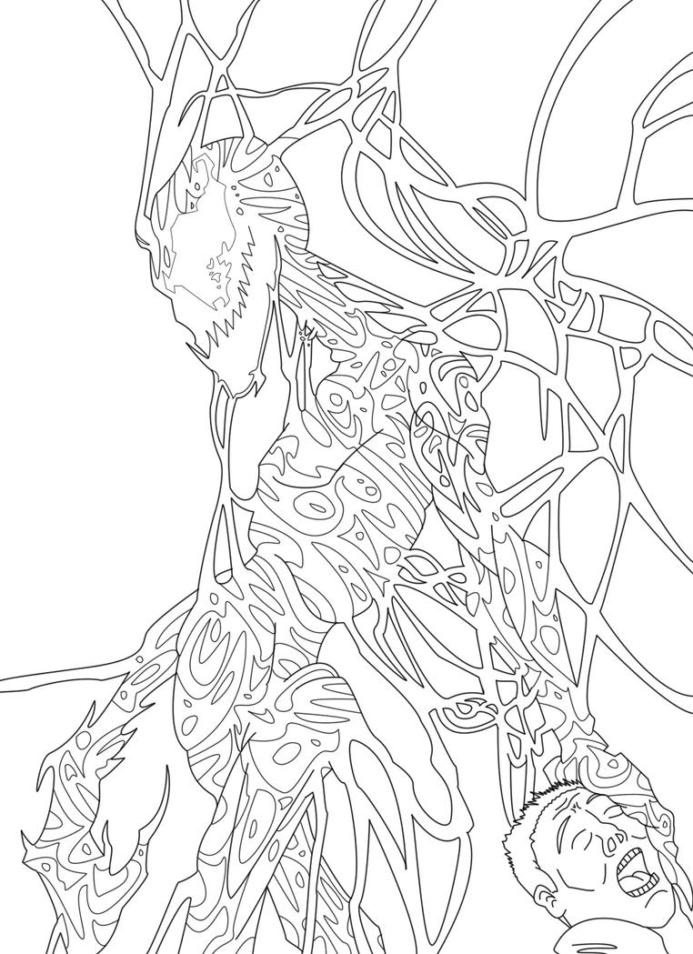 carnage spider man coloring pages - photo#18