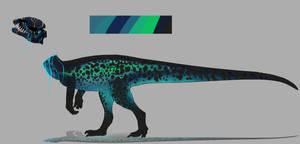 Skull Dilophosaurus adopt auction Closed