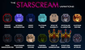 The Starscream Variations by Trecathlus