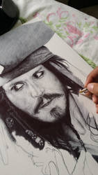 Captain Jack Sparrow WIP by ChrisHerreraArt