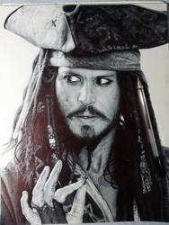 Jack Sparrow Ballpoint by ChrisHerreraArt
