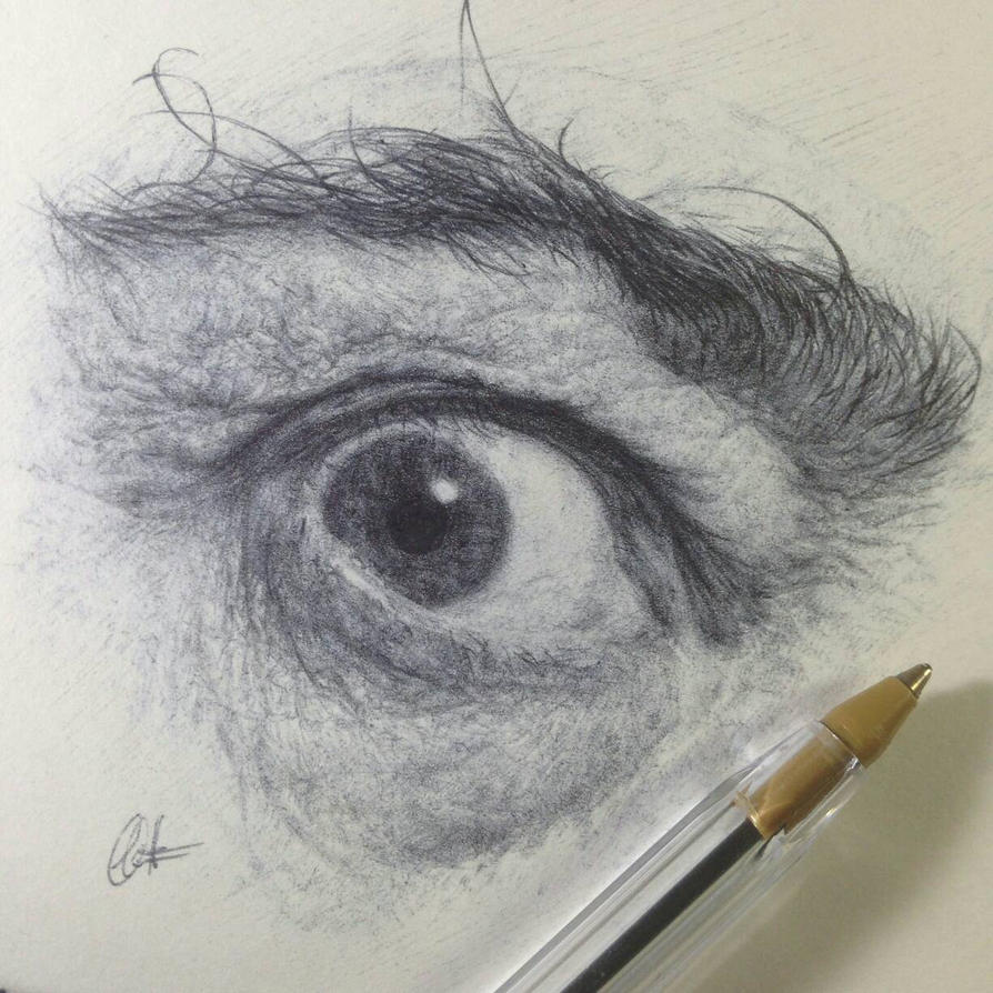 Ballpoint Dali's Eye by ChrisHerreraArt