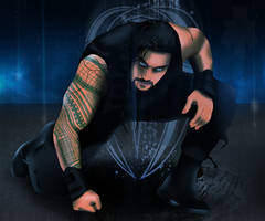 WWE Roman Reigns Drawing by AllenThomasArtist