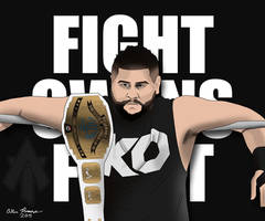 Kevin Owens Drawing by AllenThomasArtist