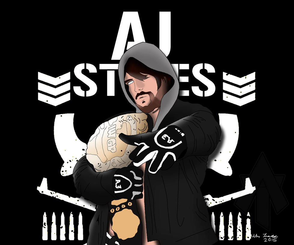 AJ Styles Drawing By AllenThomasArtist On DeviantArt