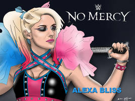 Alexa Bliss WWE No Mercy 16 Drawing by AllenThomasArtist
