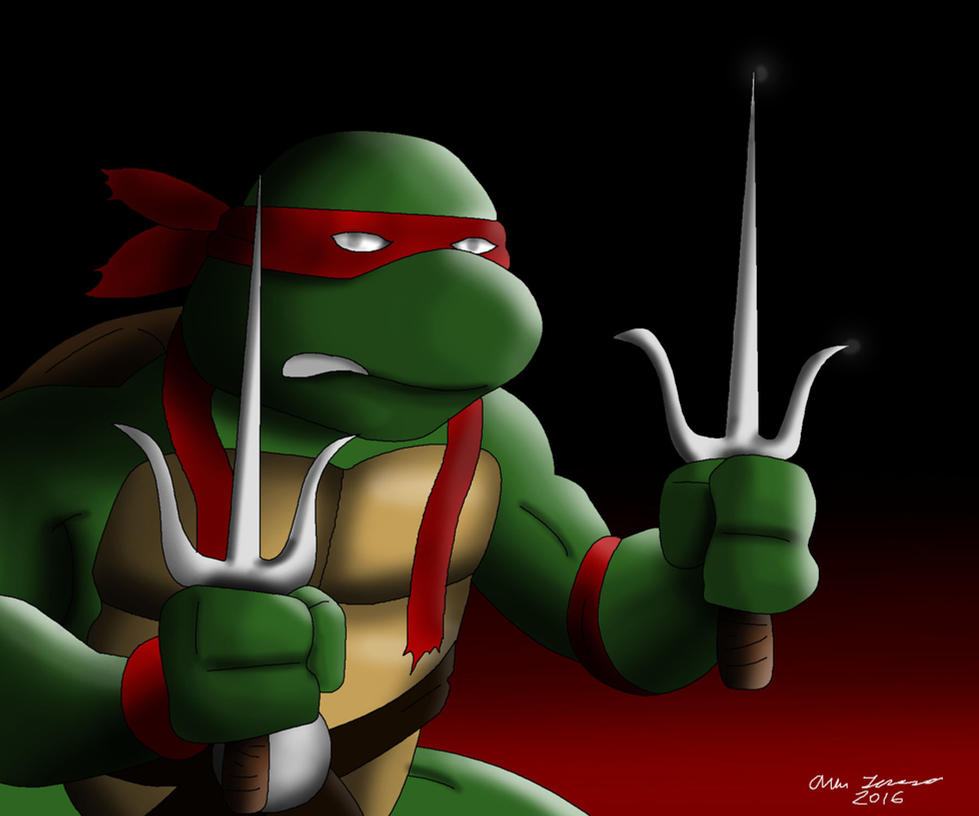 Raphael TMNT Drawing by AllenThomasArtist