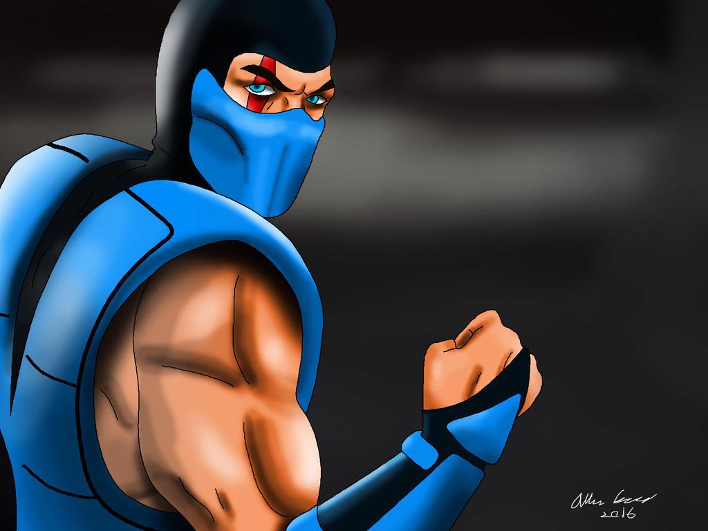 MK3 Sub Zero Drawing by AllenThomasArtist