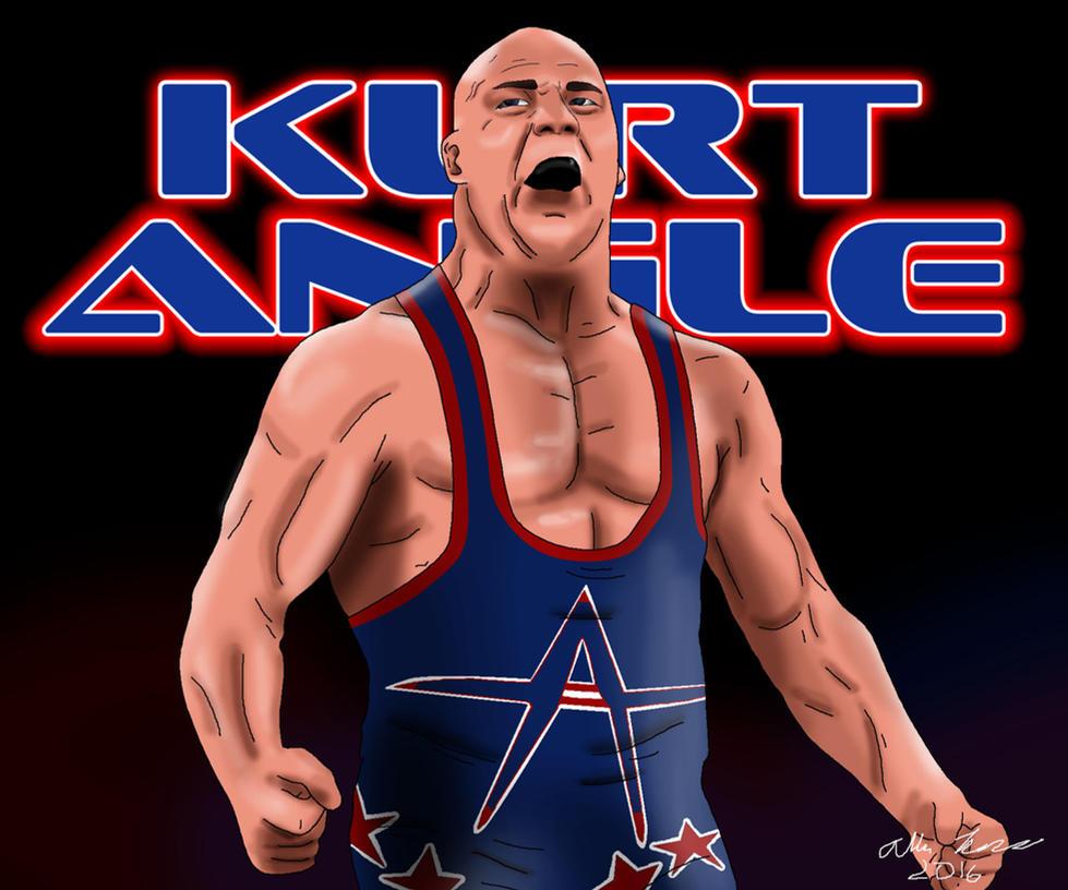 Kurt Angle Drawing by AllenThomasArtist