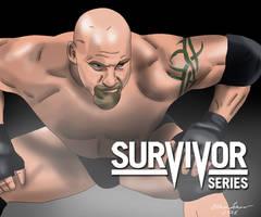 Goldberg WWE Survivor Series 2016 Drawing by AllenThomasArtist
