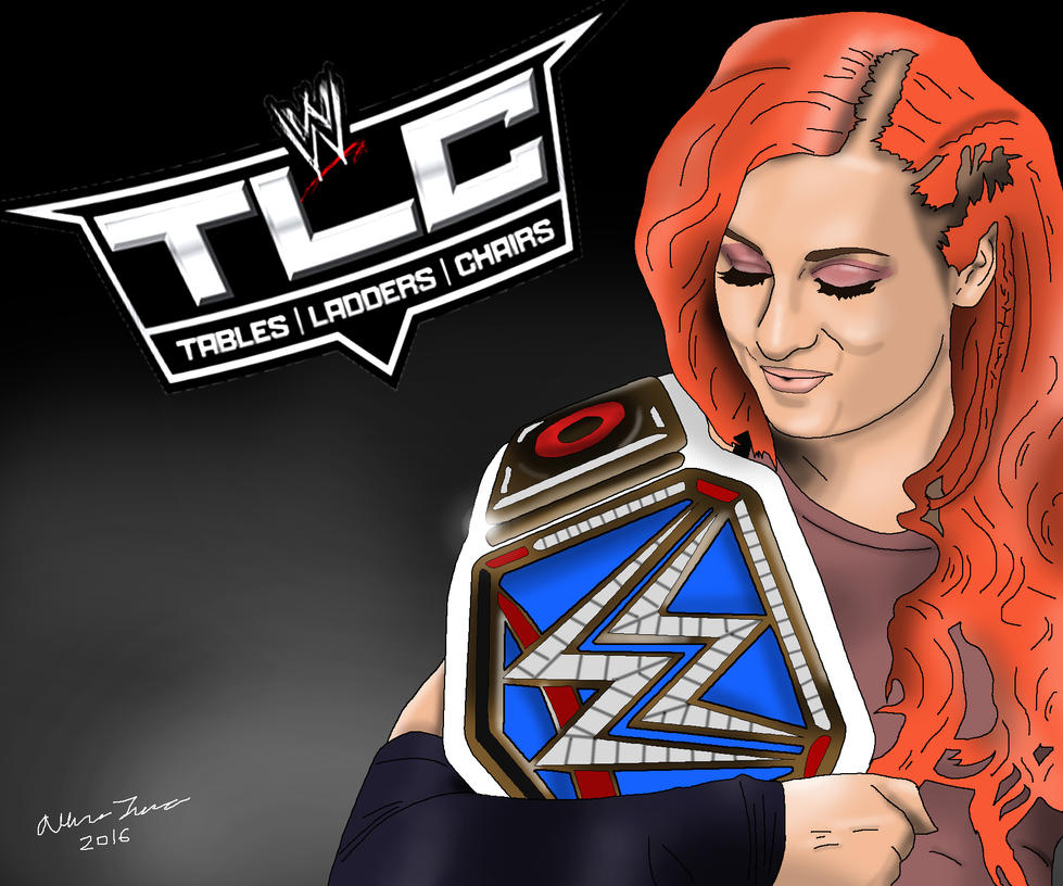 Becky Lynch TLC 2016 Drawing by AllenThomasArtist