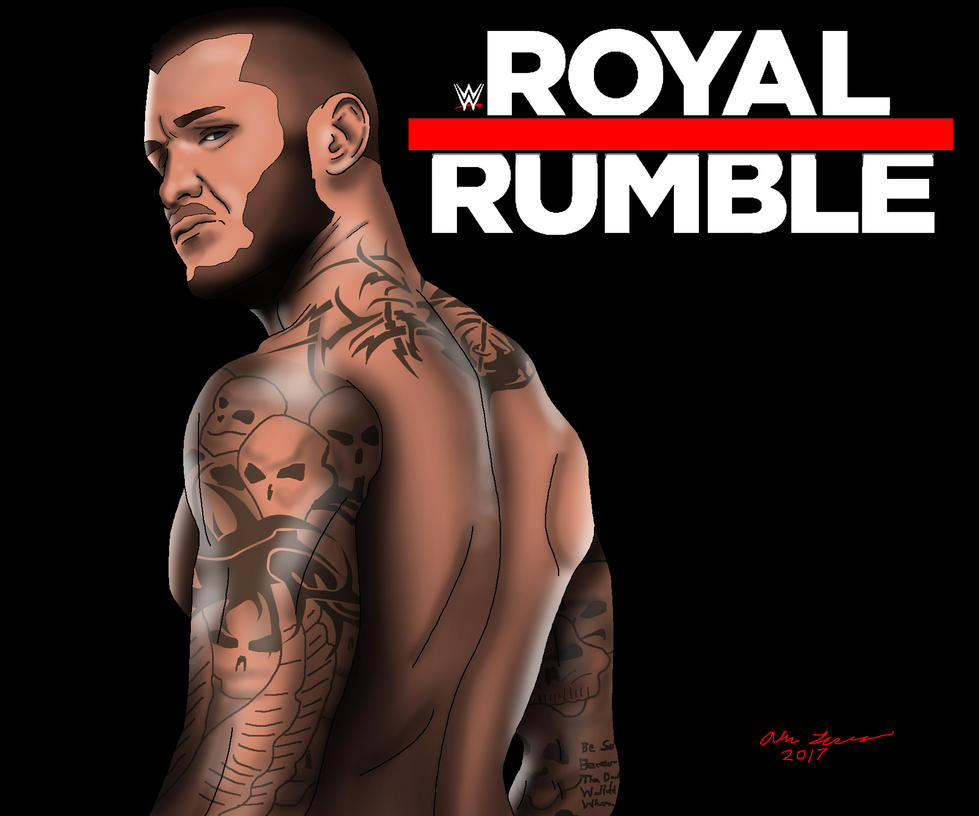 Randy Orton Royal Rumble 2017 Drawing by AllenThomasArtist