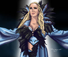 Charlotte Flair Painting by AllenThomasArtist