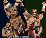 WWE Rivalries The Rock vs Triple H Painting