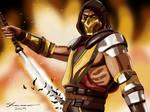 Scorpion Mortal Kombat 11 Painting