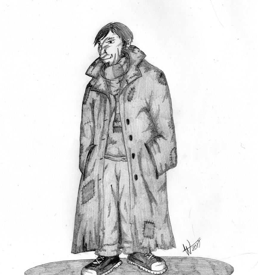 Remus Lupin (with Coat) by EvilSeverus