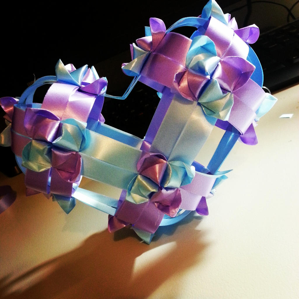 Ribbon Origami: Heart by Sinnermon on deviantART - photo#26