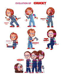 The evolution of Chucky by Beetlejulia