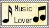 Music Lover Stamp by Miskuki