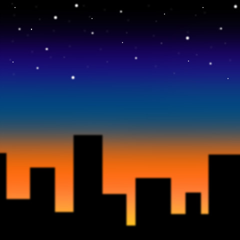 Cartoon City Skyline Night Cartoon City Skyline by