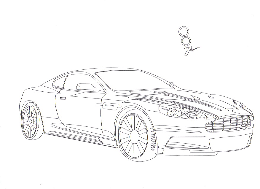 coloring pages of aston martins - photo#25