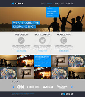 Bluebox Website Template