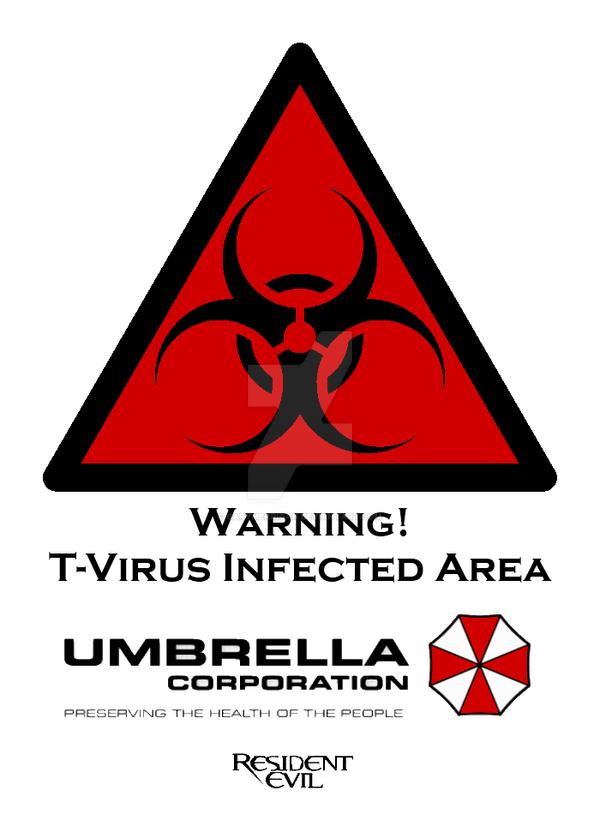 Resident Evil T Virus Warning Poster By Garymerrigan On