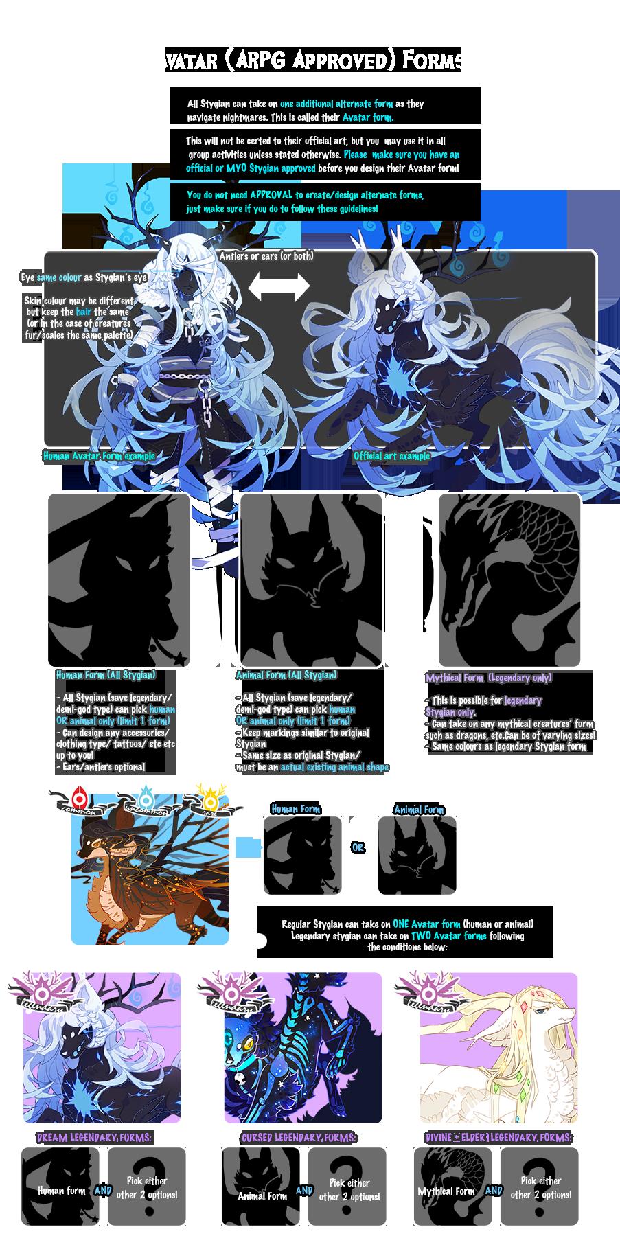 { Stygian } Avatar Forms (Updated!)