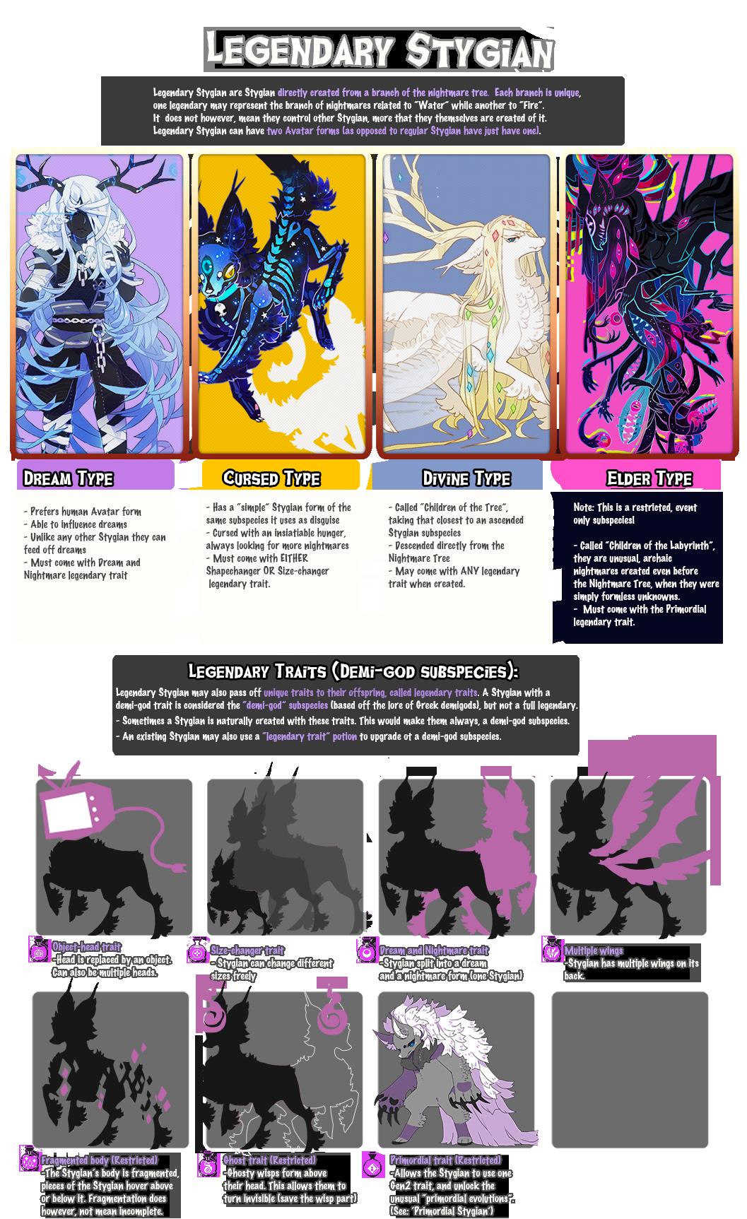 { STYGIAN } Legendary Stygian /Traits + NEW!