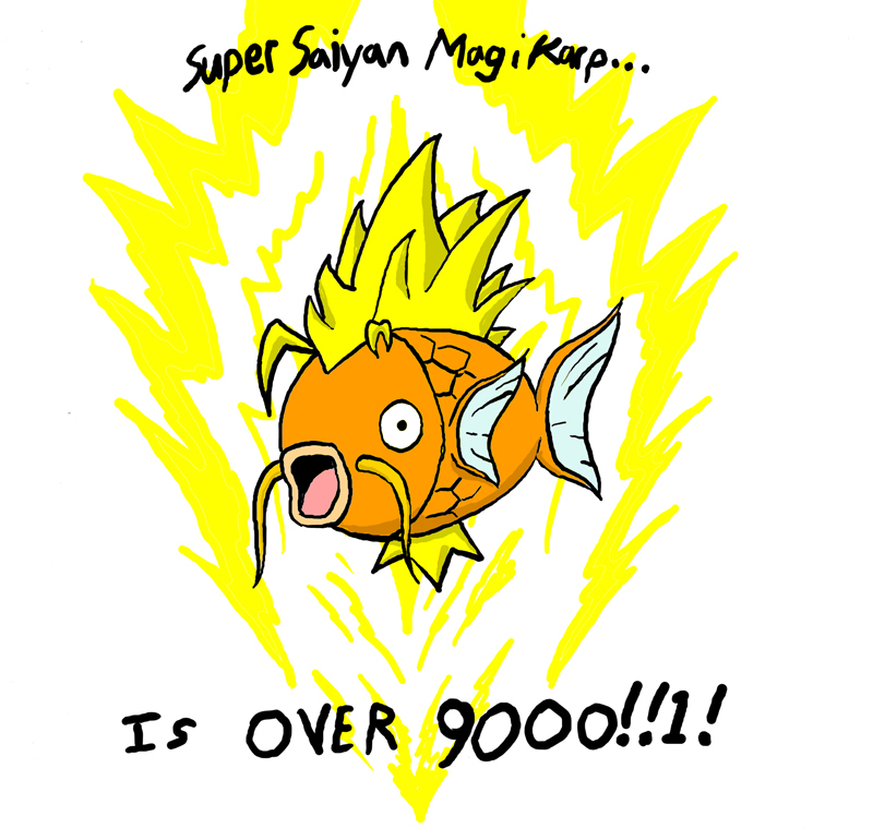 whats your favorite pokemon ? - Page 4 Magikarp_Its_over_9000_by_jimbochen