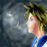 Oekaki sora frm Kingdom Hearts by powerswithin
