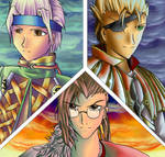 The leaders of the FFX-2 world