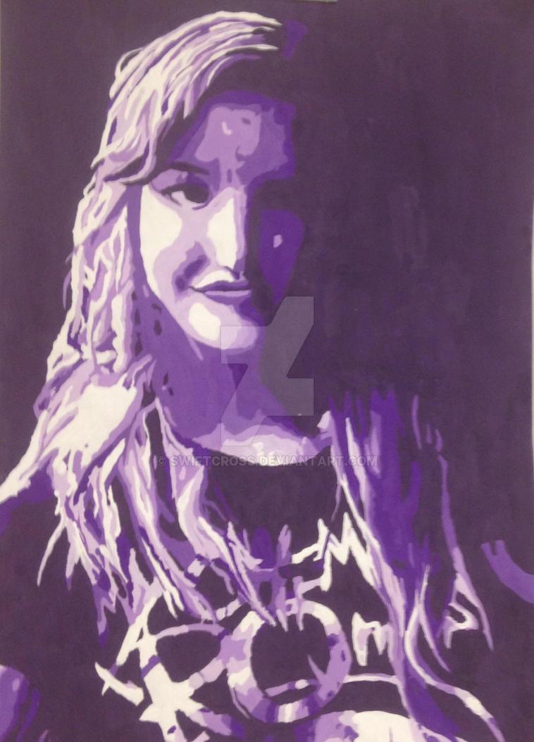 Purple self portrait by swiftcross