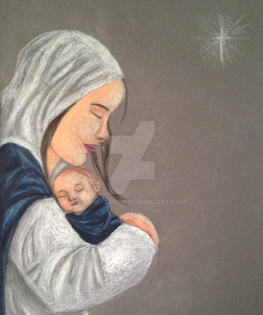 Nativity (colored pencil) by swiftcross