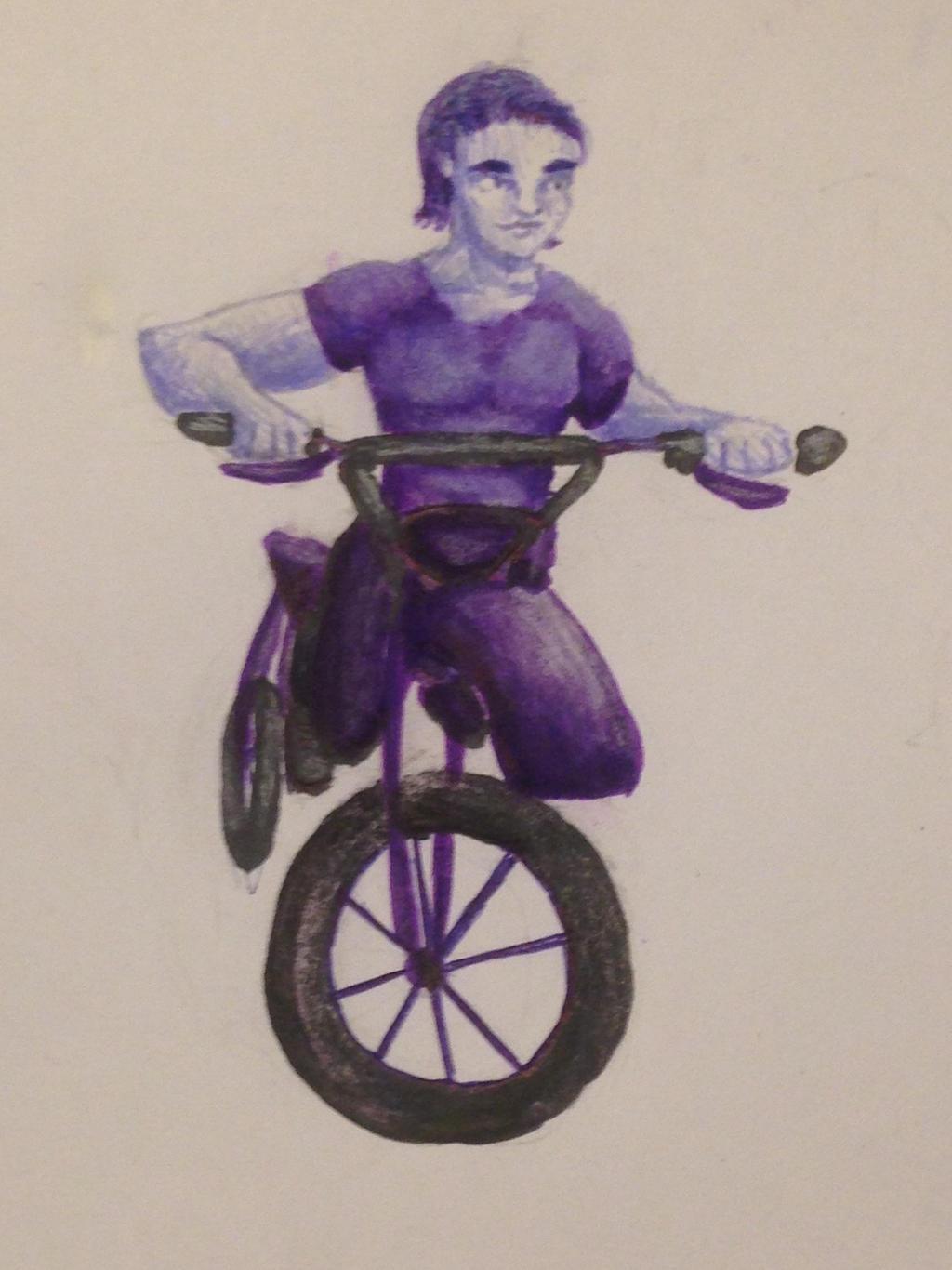 Purple Dirt Biker by swiftcross