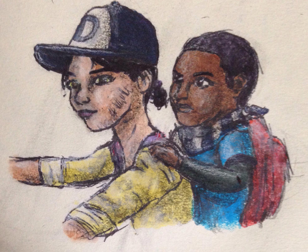 Clem and AJ by swiftcross