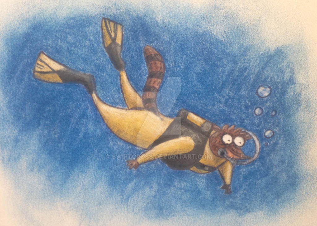 Scuba Rigby Request  by swiftcross