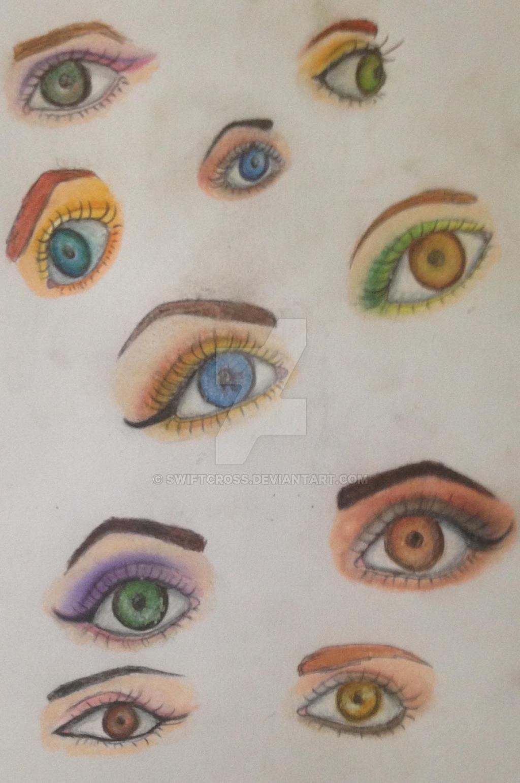 Chalk Eye Makeup Sketch Dump by swiftcross