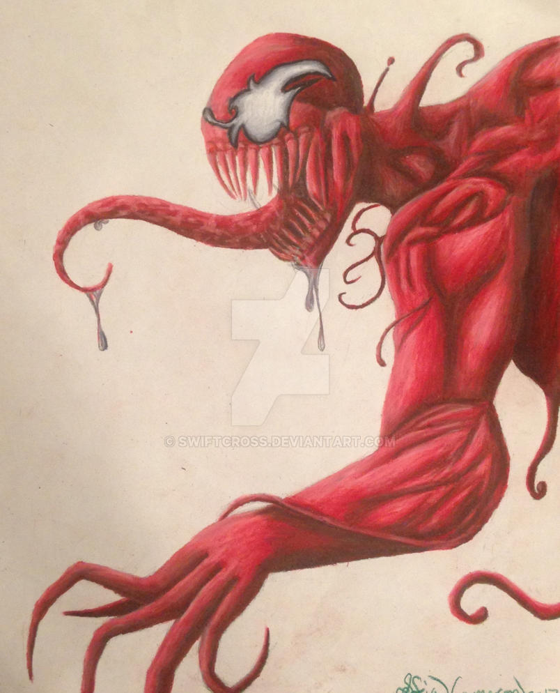Carnage in colored pencil by swiftcross