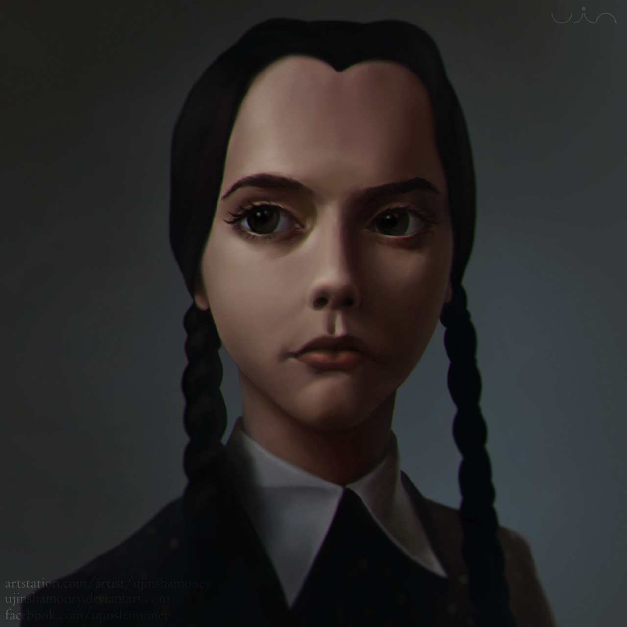 Wednesday Addams Wallpaper Happy