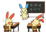Math Class with Plusle and Minun