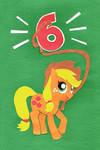 Applejack Birthday Card