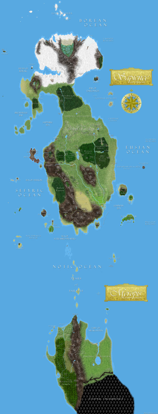 Achaea world map (old) by DelphinusW