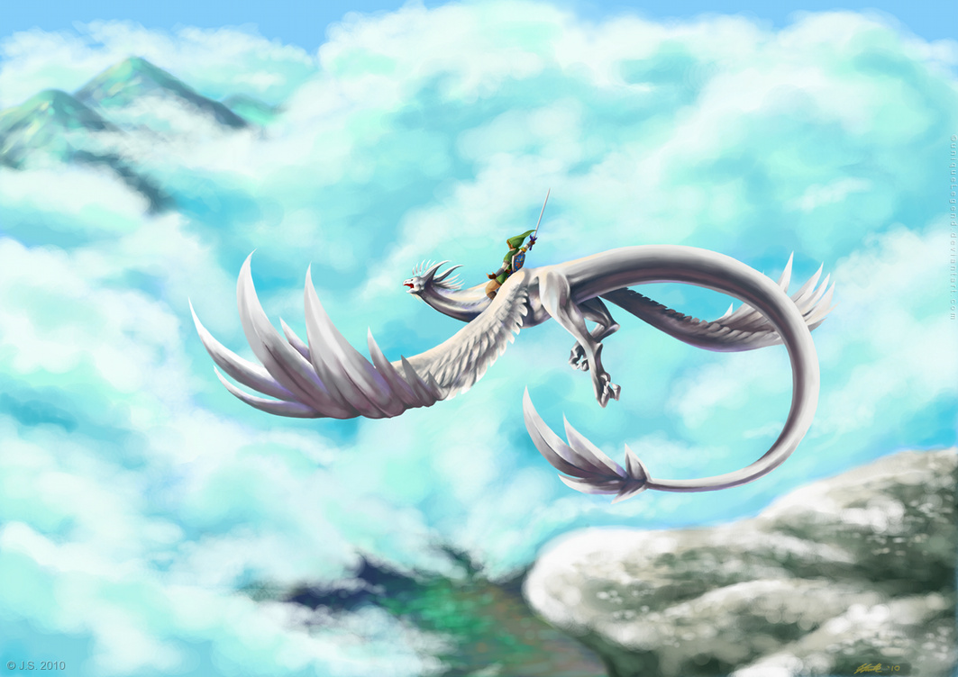Skyloft Flight by EternaLegend