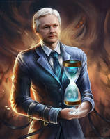 Julian Assange by EternaLegend