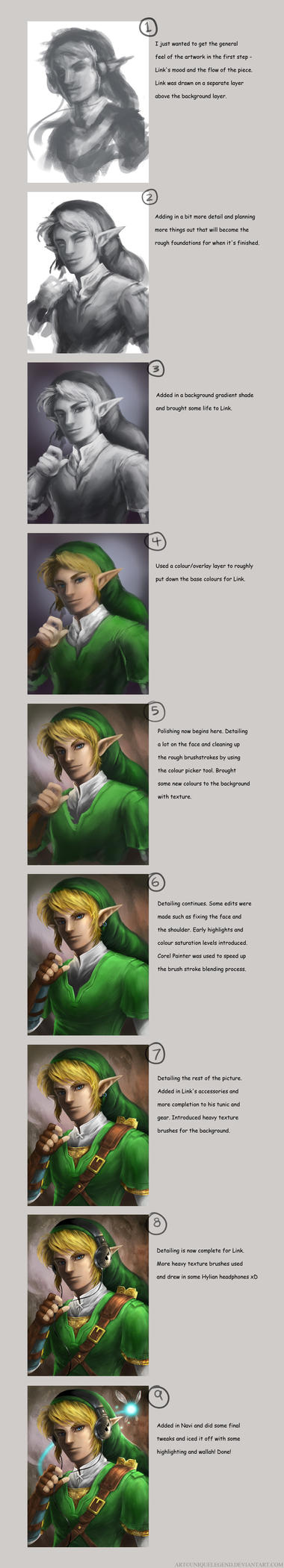 Link with Headphones: Step by step by EternaLegend