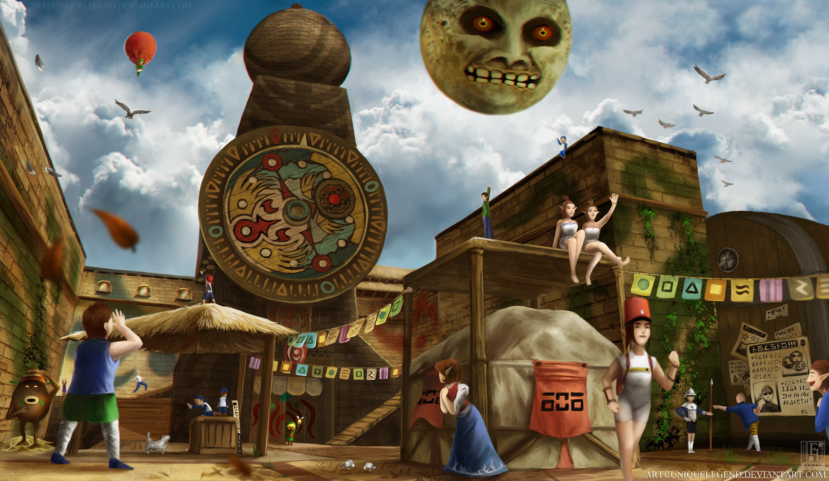 Majora's Mask: Clocktown by EternaLegend