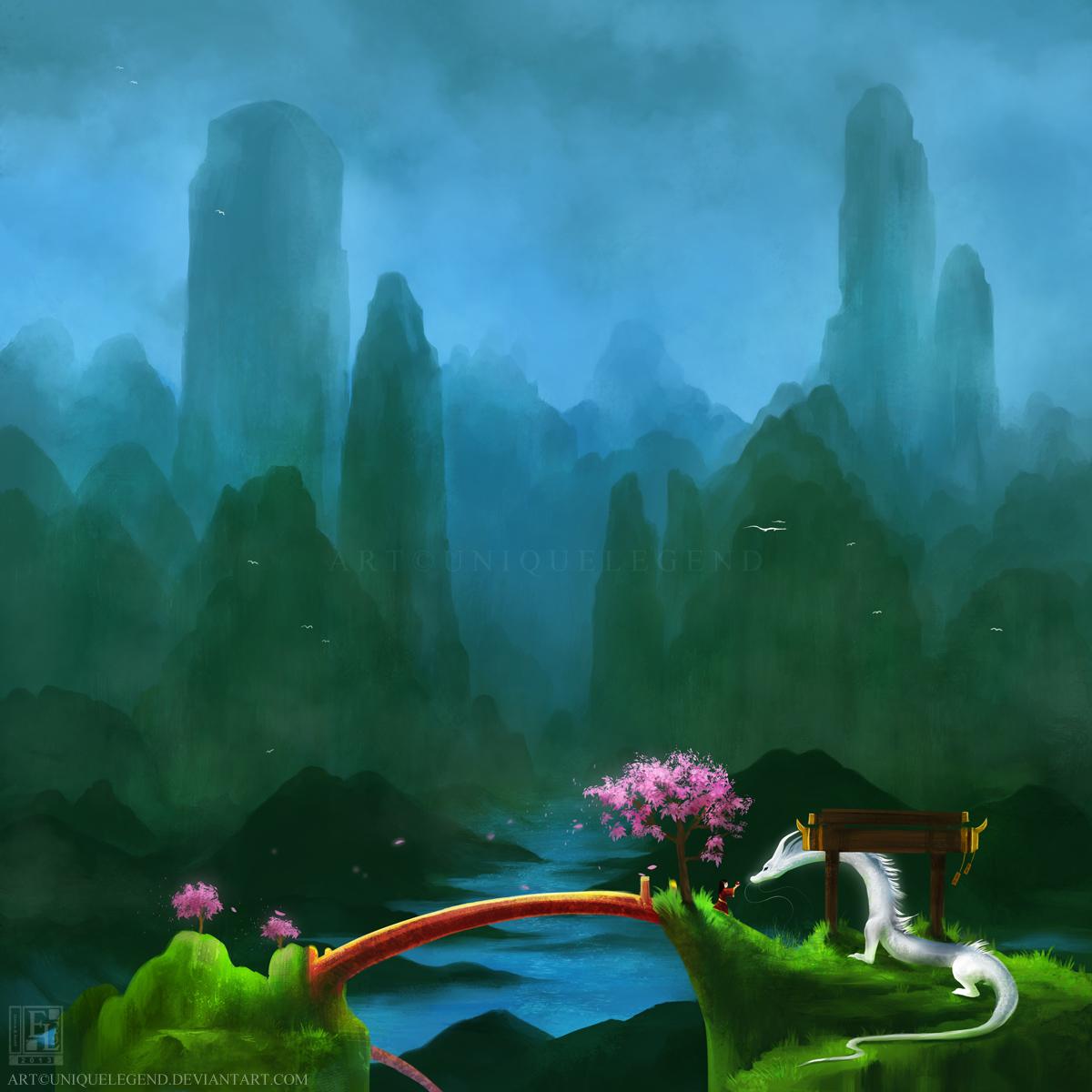 Dragon Spires by EternaLegend
