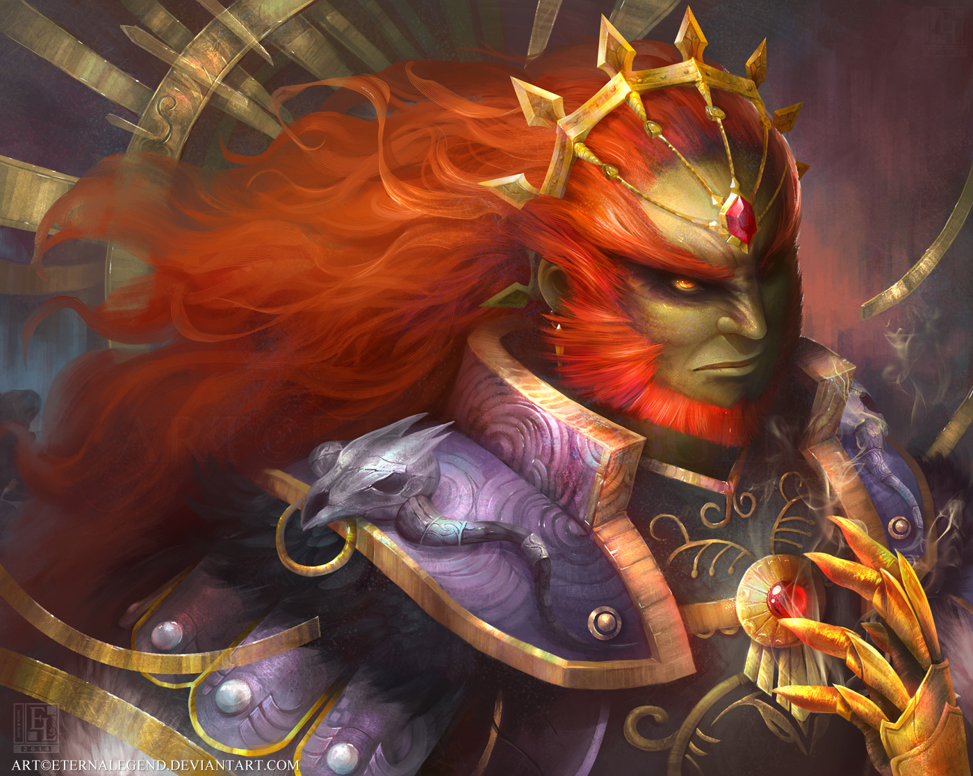 Galeria de Arte: Ficção & Fantasia 1 - Página 5 The_king_of_evil_by_eternalegend-d7xj7hm