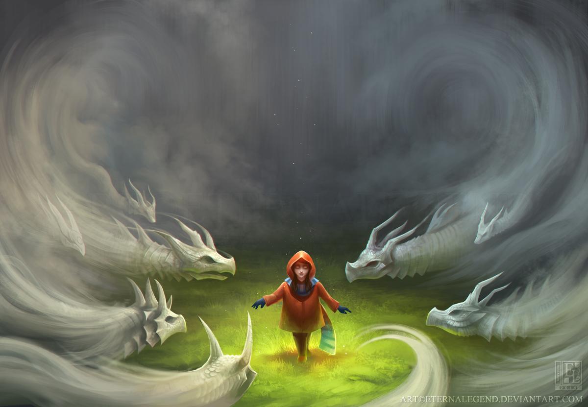 Mist Dragons By Eternalegend On Deviantart